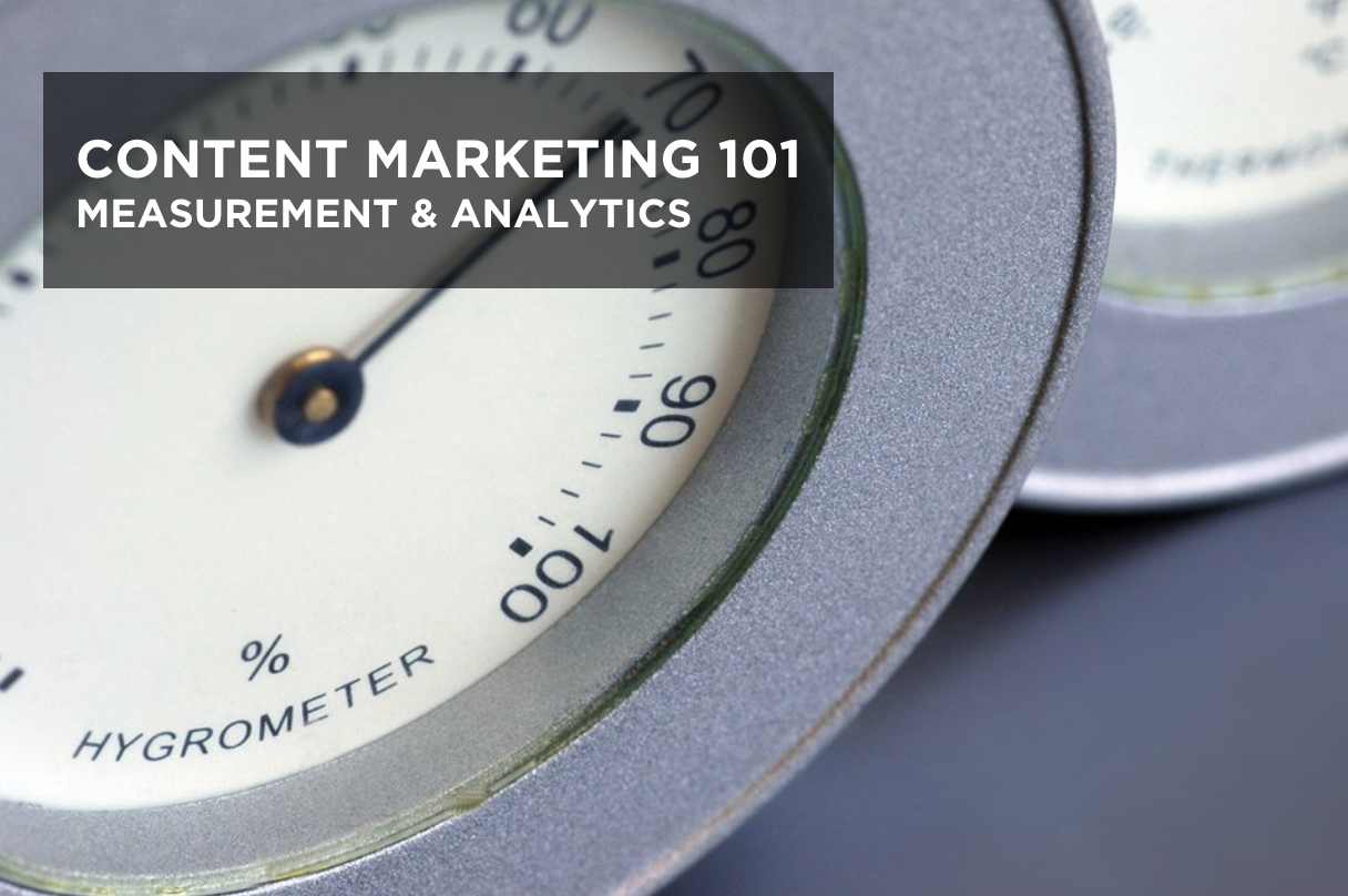 content marketing 101 - measurement