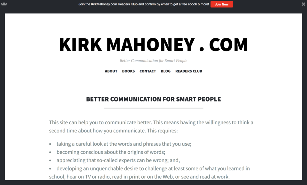kirk mahoney.com