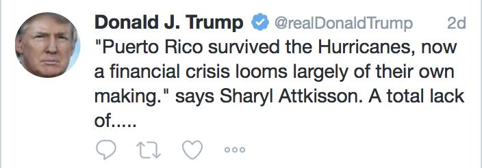 Trump's tweet 1