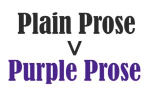 use plain prose