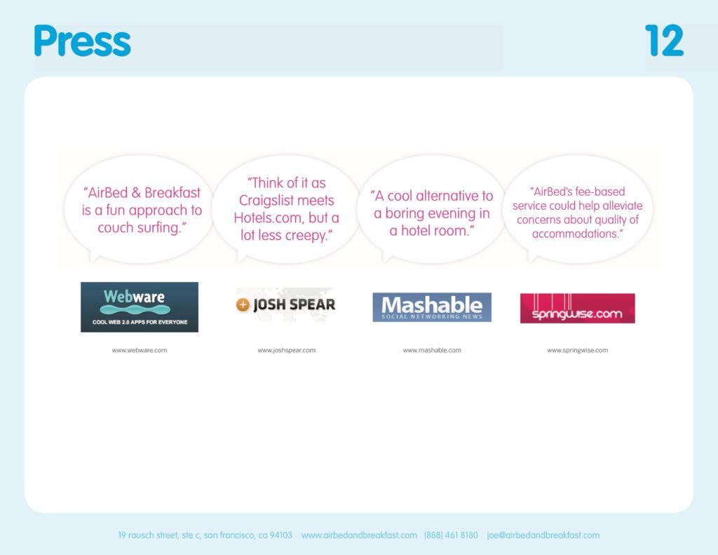 Airbnb Pitchdeck page 12