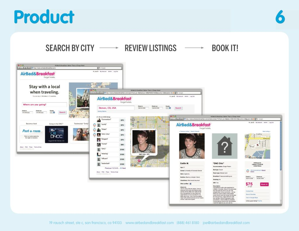 Airbnb Pitchdeck page 6
